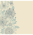 Floral light background vector