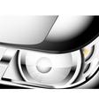 Close up car headlight vector