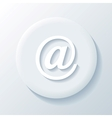 Email 3d paper icon vector