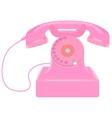 Pink retro telephone vector