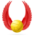Flying ball vector