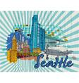 Seattle doodles vector