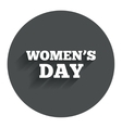 Womens day sign icon holiday symbol vector