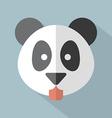 Modern flat design panda icon vector