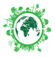 Green eco earth isolated on white background vector