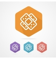 Two plaster icon patch flat icons vector