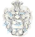 Watercolor emblem vector