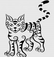 Curl cat vector
