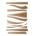 Set of curved films background vector