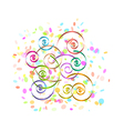 Confetti and spirals vector