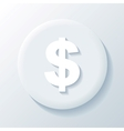 Dollar 3d paper icon vector