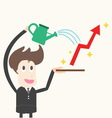 Businessman wateringbusiness success vector