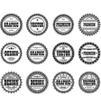 Collection award stamp for design studios vector