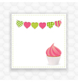 Cupcake and bunting background vector