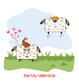 Sheep lovers comic for valentines day or wedding vector