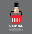 Shopping basket in hand vector