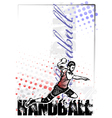 Handball poster background vector