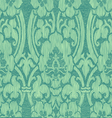 Seamless turquoise abstract striped floral pattern vector