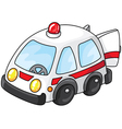 Ambulance car with open doors vector
