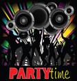 Party time with young people vector
