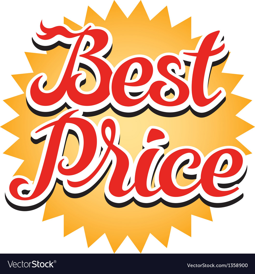 Best price sticker vector | Price: 1 Credit (USD $1)