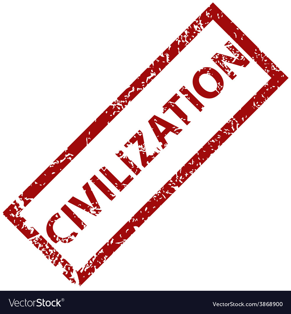 Civilization rubber stamp vector | Price: 1 Credit (USD $1)