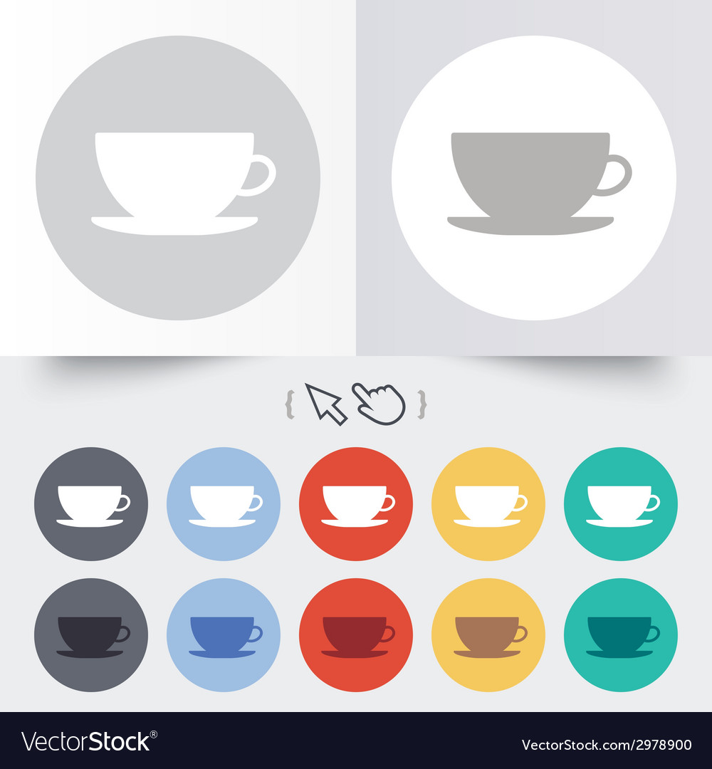 Coffee cup sign icon coffee button vector | Price: 1 Credit (USD $1)