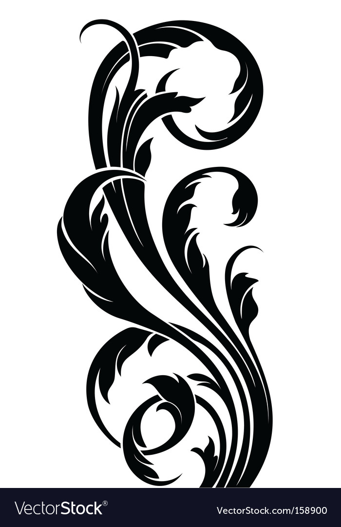 Floral curve vector | Price: 1 Credit (USD $1)