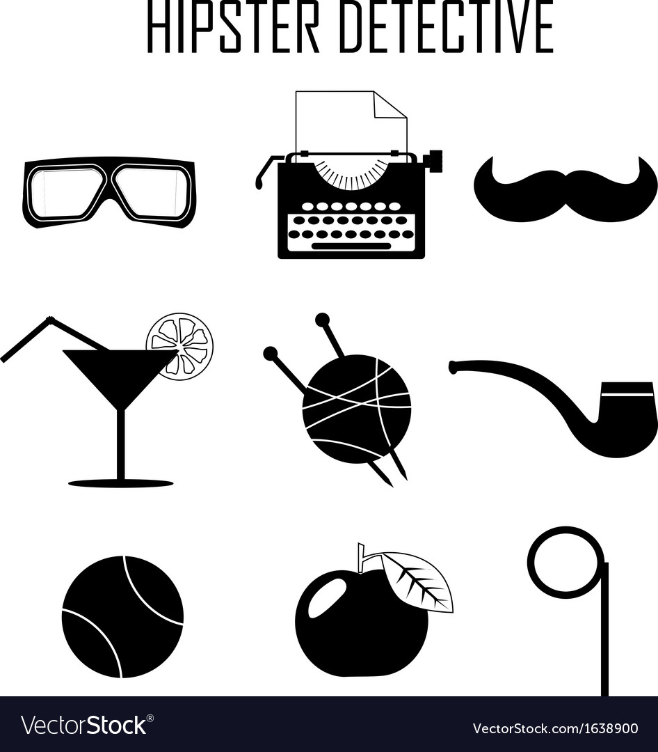 Hipster detective icon vector | Price: 1 Credit (USD $1)