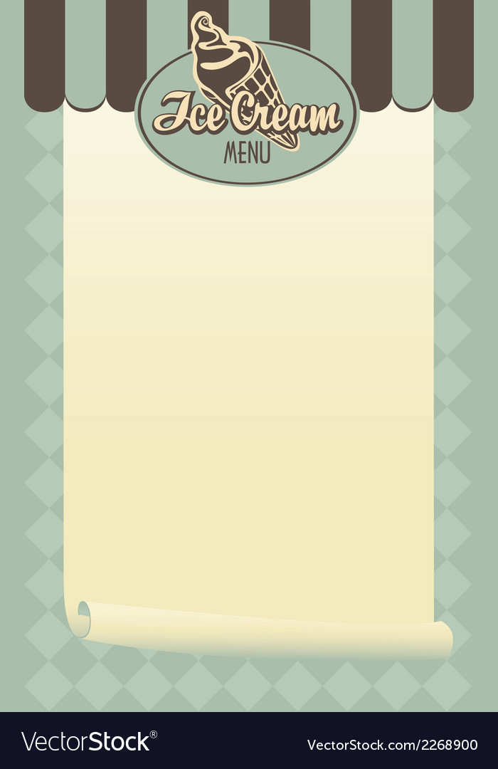 Ice cream menu vector | Price: 1 Credit (USD $1)