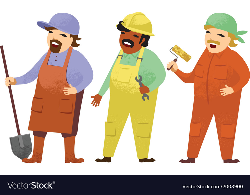Manual workers vector | Price: 1 Credit (USD $1)