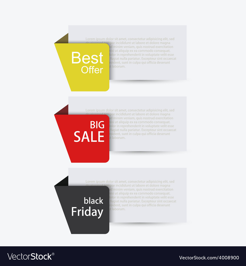 Modern sale banners set vector | Price: 1 Credit (USD $1)