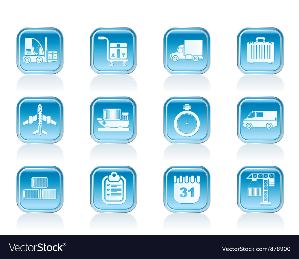 Shipping and transportation icons vector | Price: 1 Credit (USD $1)