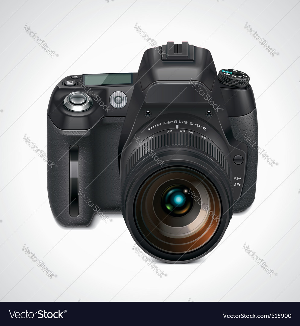 slr camera xxl icon vector | Price: 3 Credit (USD $3)