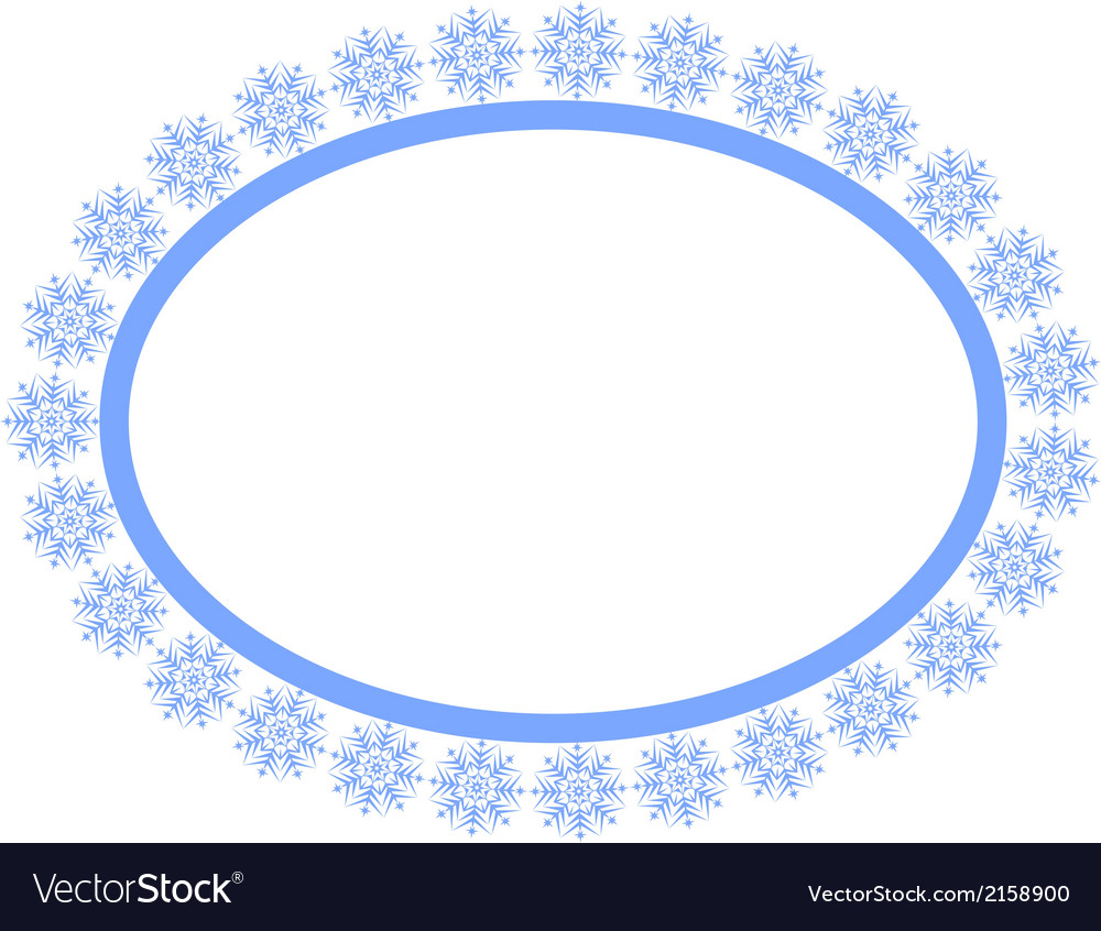 Snowflakes frame vector | Price: 1 Credit (USD $1)