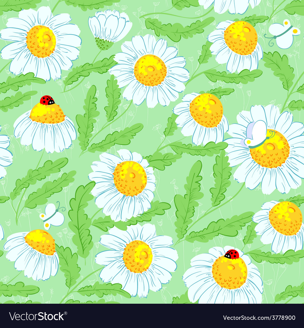 Spring seamless vector | Price: 1 Credit (USD $1)