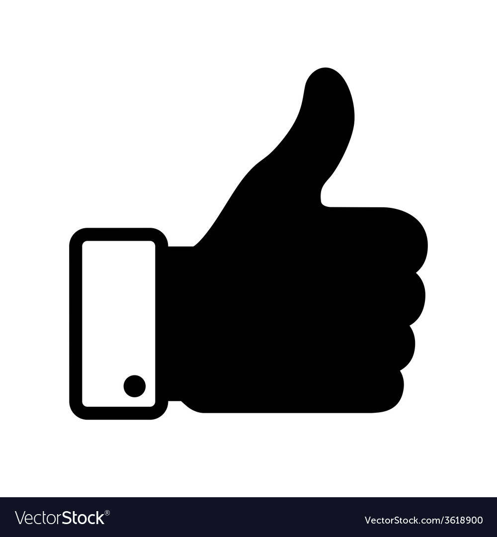 Thumb up black icon vector | Price: 1 Credit (USD $1)
