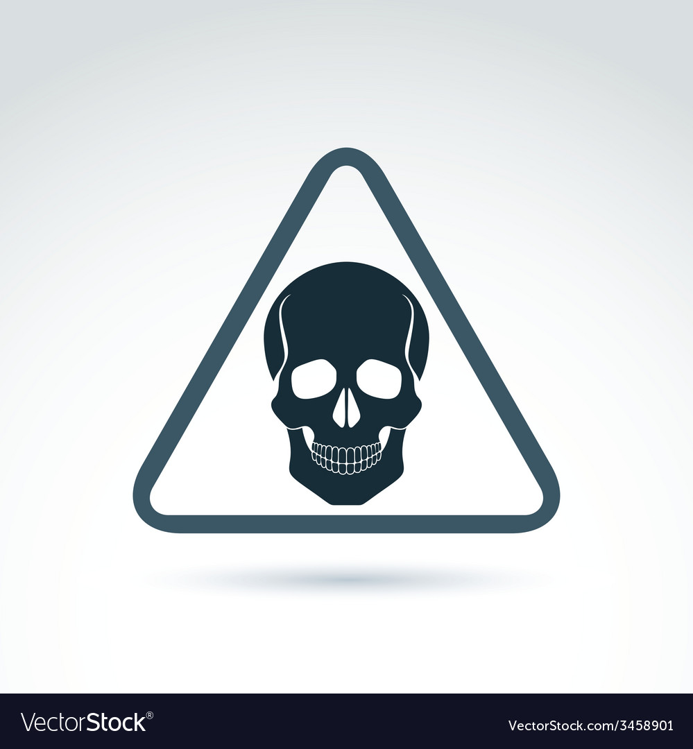 A human skull in a triangle dead head ab vector | Price: 1 Credit (USD $1)