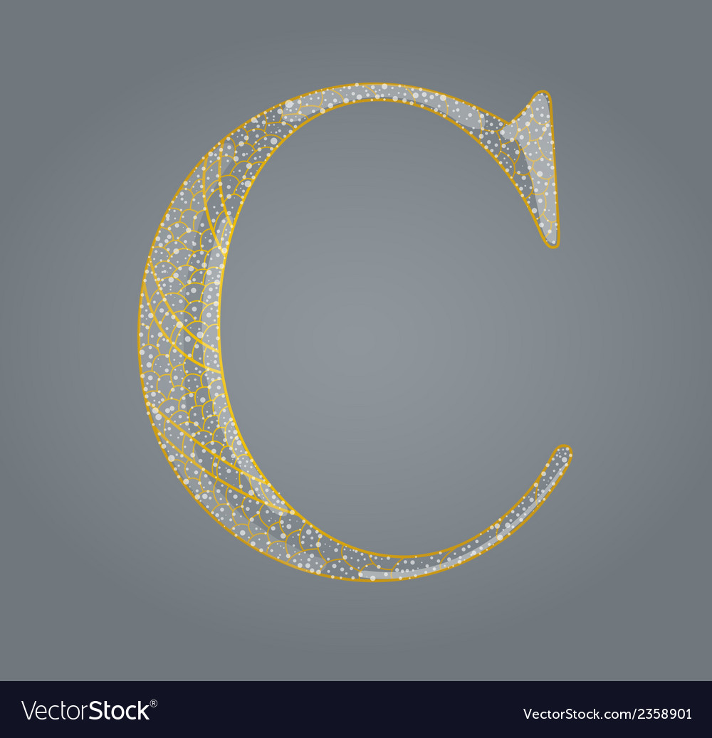 Abstract golden letter c vector | Price: 1 Credit (USD $1)