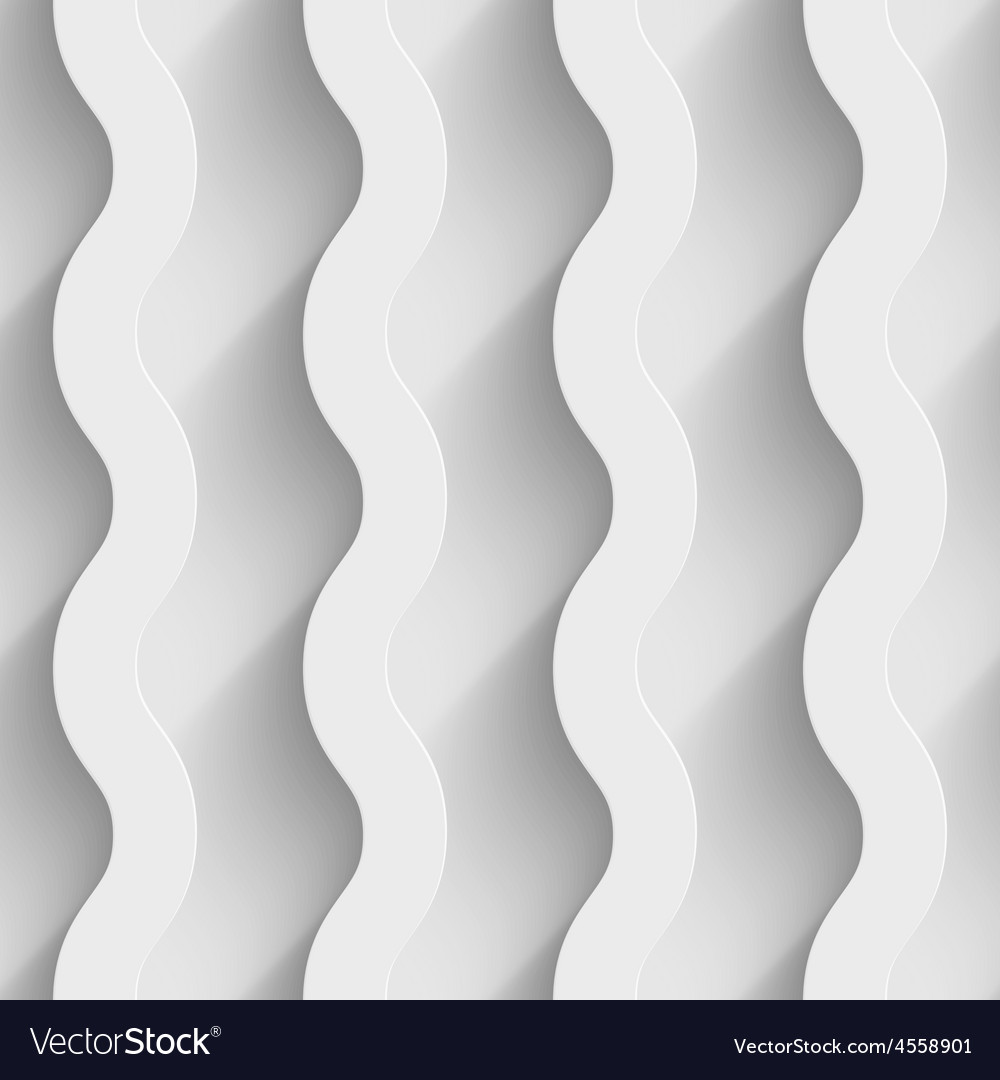 Abstract white paper 3d waves seamless background vector   Price: 1 Credit (USD $1)