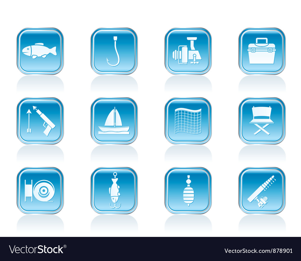 Fishing and holiday icons vector   Price: 1 Credit (USD $1)
