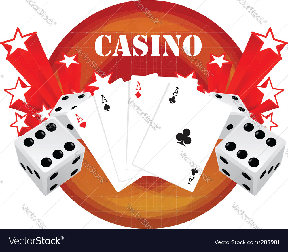 Gambling illustration with casino elements vector | Price: 1 Credit (USD $1)