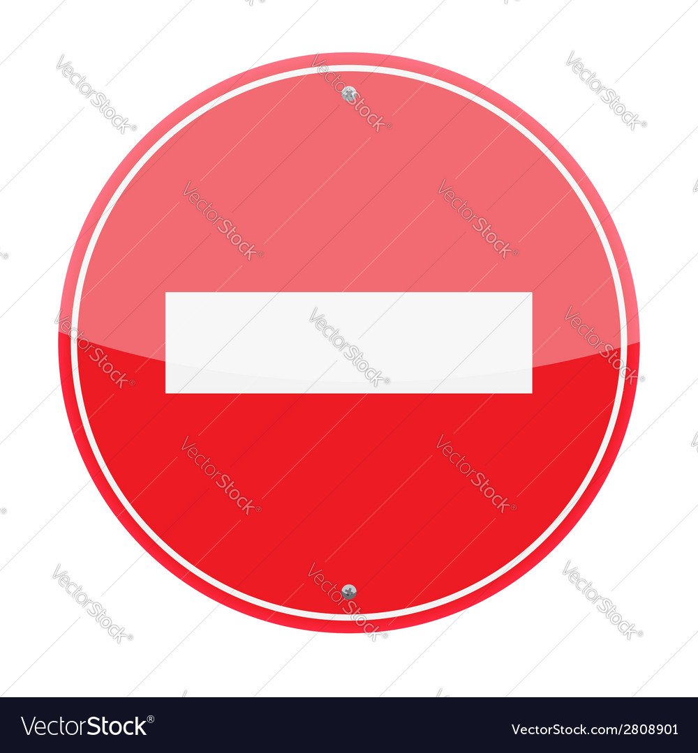 No entry sign vector | Price: 1 Credit (USD $1)