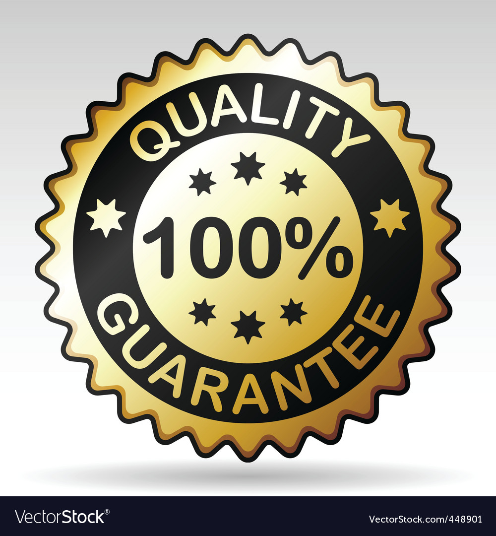 Quality guarantee label vector | Price: 1 Credit (USD $1)