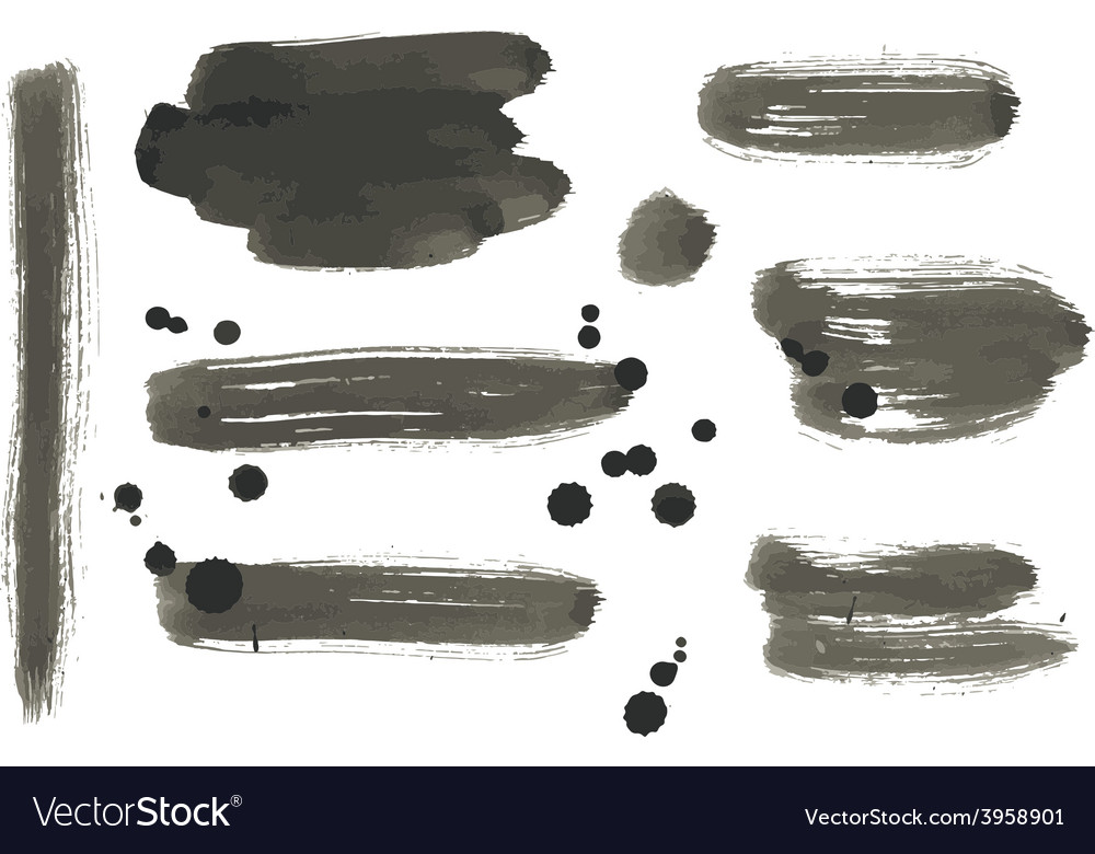 Set of abstract paint banners vector | Price: 1 Credit (USD $1)