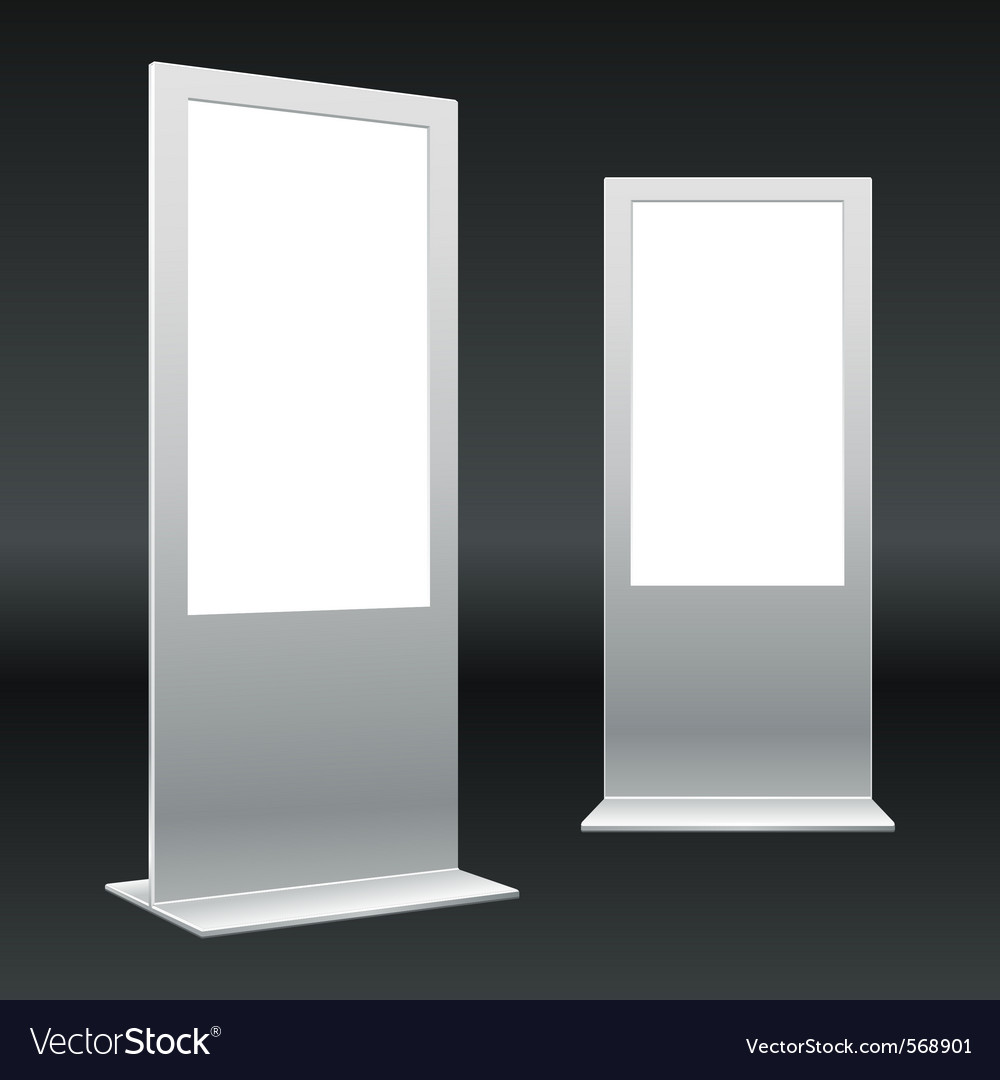 Standing digital sign vector | Price: 1 Credit (USD $1)