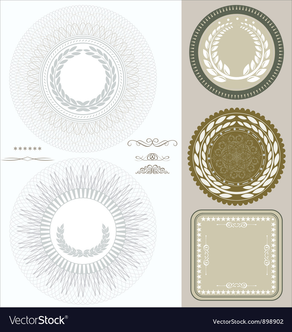 Document seals vector | Price: 1 Credit (USD $1)