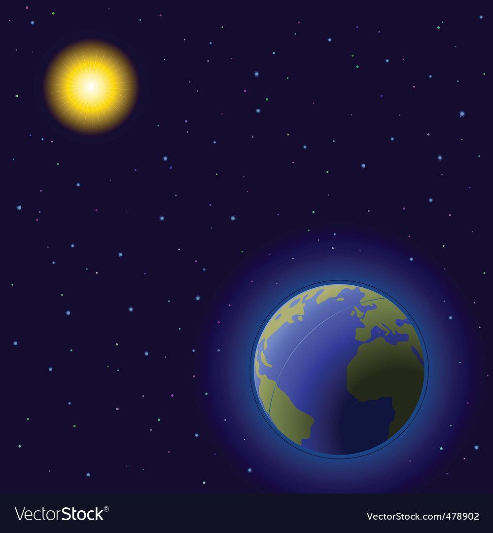 Earth and sun vector | Price: 1 Credit (USD $1)