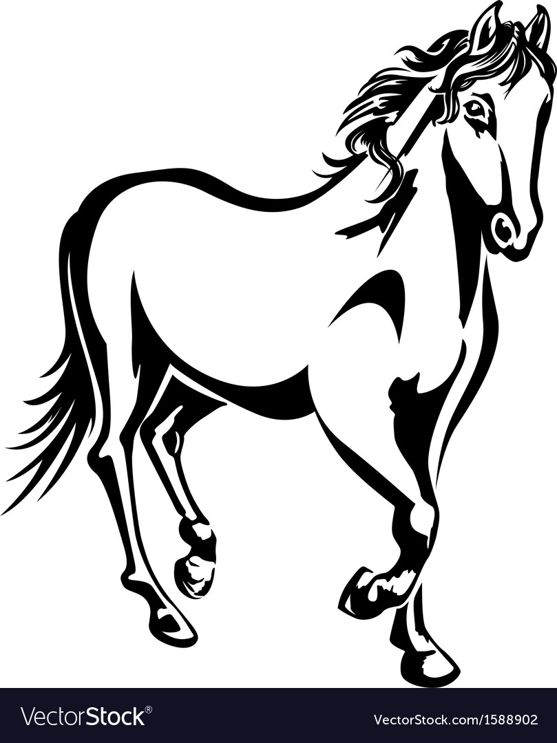 Horse 2 vector | Price: 1 Credit (USD $1)