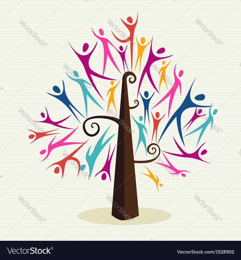 Human shapes tree vector | Price: 1 Credit (USD $1)